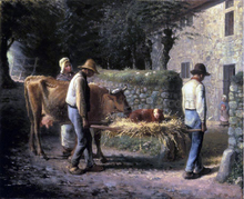 Peasants Bringing Home a Calf Born in the Fields