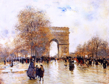 The Arc de Triomphe, Autumn Effect - Jean-Francois Raffaelli