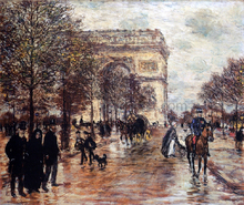 The Champs-Elysees, The Arc de Triompne - Jean-Francois Raffaelli