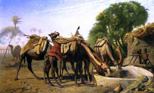 Camels at a Watering Trough - Jean-Leon Gerome
