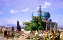 Cemetery Gone to Seed (also known as The Green Mosque) - Jean-Leon Gerome