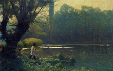 Summer Afternoon on a Lake - Jean-Leon Gerome