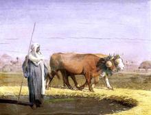 Treading Wheat in Egypt - Jean-Leon Gerome
