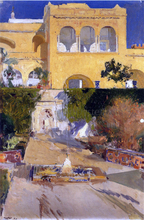 Afternoon sun at the Alcazar at Seville - Joaquin Sorolla Y Bastida