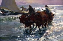 Bulls in the Sea - Joaquin Sorolla Y Bastida