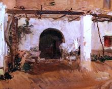 Casa de Huerta, Valencia (study) - Joaquin Sorolla Y Bastida