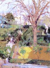 Gardens of the Alcazar of Seville in Wintertime - Joaquin Sorolla Y Bastida