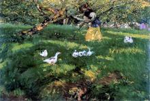 Herding Geese in the Asturias - Joaquin Sorolla Y Bastida