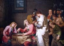 Conradin of Swabia and Friedrich of Baden Awaiting Sentence