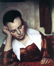 A Woman Asleep at Table (detail: 1)