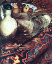 A Woman Asleep at Table [detail: 3]