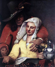 The Procuress (detail: 1)