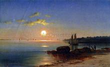 Moonlight on the Long Island Sound - John Carleton Wiggins