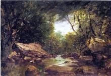 Brook in the Catskills - John Frederick Kensett