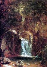 Cascade near Lake George - John Frederick Kensett