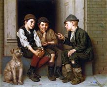 Plotting Mischief - John George Brown