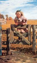 Swinging on a Gate, Southampton, Long Island - John George Brown
