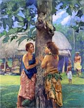 Portrait of Faase, the Taupo of Fagaloa Bay, Samoa