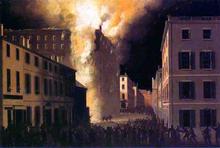 Conflagration of the Exchange Coffee House, Boston - John Ritto Penniman