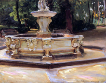 A Marble Fountain at Aranjuez, Spain - John Singer Sargent