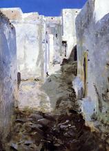 A Street in Algiers - John Singer Sargent