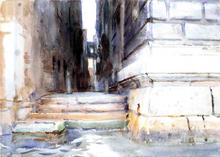 Base of a Palace - John Singer Sargent