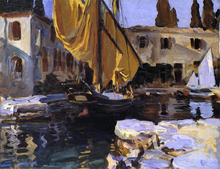 Boat with The Golden Sail, San Vigilio - John Singer Sargent