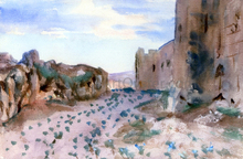Fortress, Roads and Rocks - John Singer Sargent