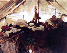 Inside a Tent in the Canadian Rockies - John Singer Sargent