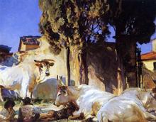 Oxen Resting - John Singer Sargent