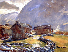 Simplon Pass: Chalets - John Singer Sargent