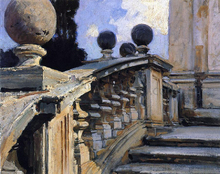 The Steps of the Church of S. S. Domenico e Siste in Rome - John Singer Sargent