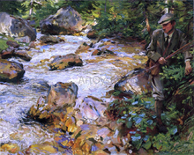 A Trout Stream in the Tyrol - John Singer Sargent