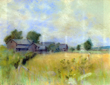 Pasture with Barns, Cos Cob - John Twachtman