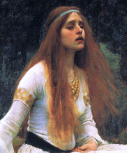 The Lady of Shalott (detail-top)