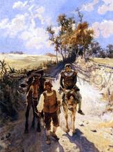 Don Quixote and Sancho Panza - Jose Jimenez Y Aranda