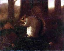 Collecting Nuts - Joseph Decker