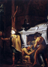 Miravan Opening the Grave of his Forefathers - Joseph Wright