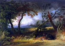 Indians Stalking Deer (also known as Bears Feast) - Joshua Shaw