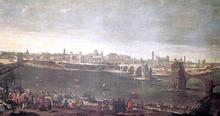 View of Zaragoza - Juan Bautista Martinez Del Mazo