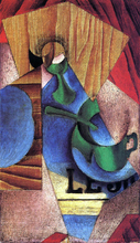Glass, Cup and Newspaper - Juan Gris