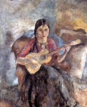 Gypsy with a Guitar - Jules Pascin
