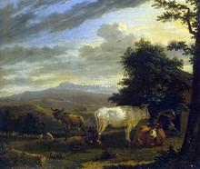 Landscape with Cattle - Karel Dujardin