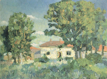 Landscape with White Houses