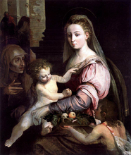 Virgin and Child with St Anne and the Infant St John