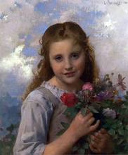 A Young Girl with a Bouquet of Flowers