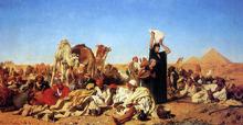Rest in the Desert near Gizha - Leopold Karl Muller