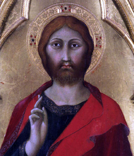 Christ Blessing (detail)