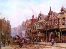 Lower Bridge Street, Chester - Louise Rayner