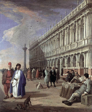 The Piazzetta and the Library - Luca Carlevaris